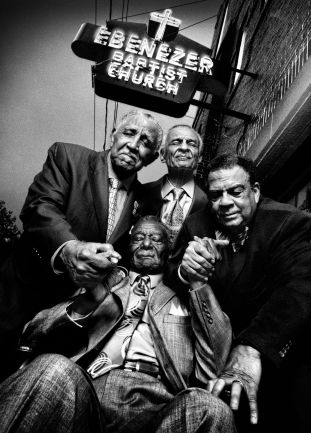 Reverend Joseph Lowery, Reverend C. T. Vivian, Andrew Young, & Reverend Fred Shuttlesworth