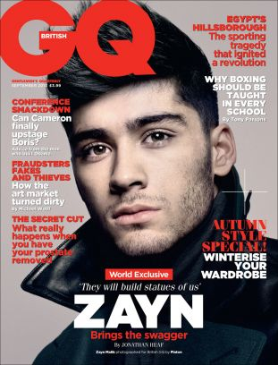 gq uk, one direction (zayn malik)