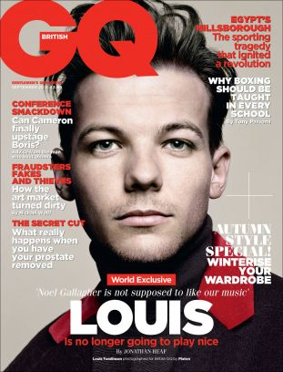 gq uk, one direction (louis tomlinson)