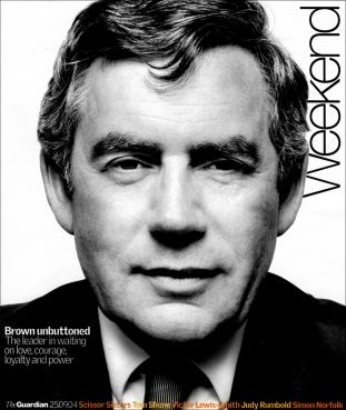 guardian weekend magazine, gordon brown
