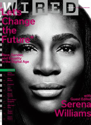 serena williams, wired cover