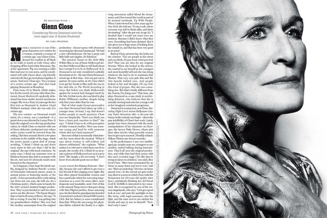 new york magazine, glenn close